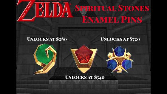 Zelda Spiritual Stones Enamel Pins