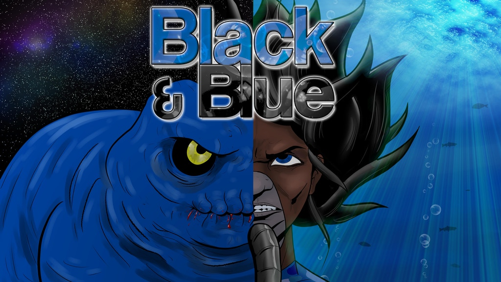 Black & Blue - the Underwater Alien Attack Graphic Novel project video thumbnail