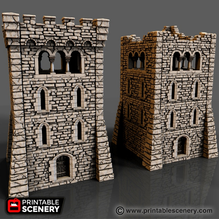 Rampage Gothic - 3d Printable Scenery Building System by
