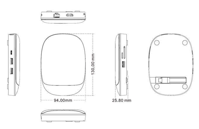 HyperDrive USB-C Hub + 7.5W Qi Wireless Charger iPhone