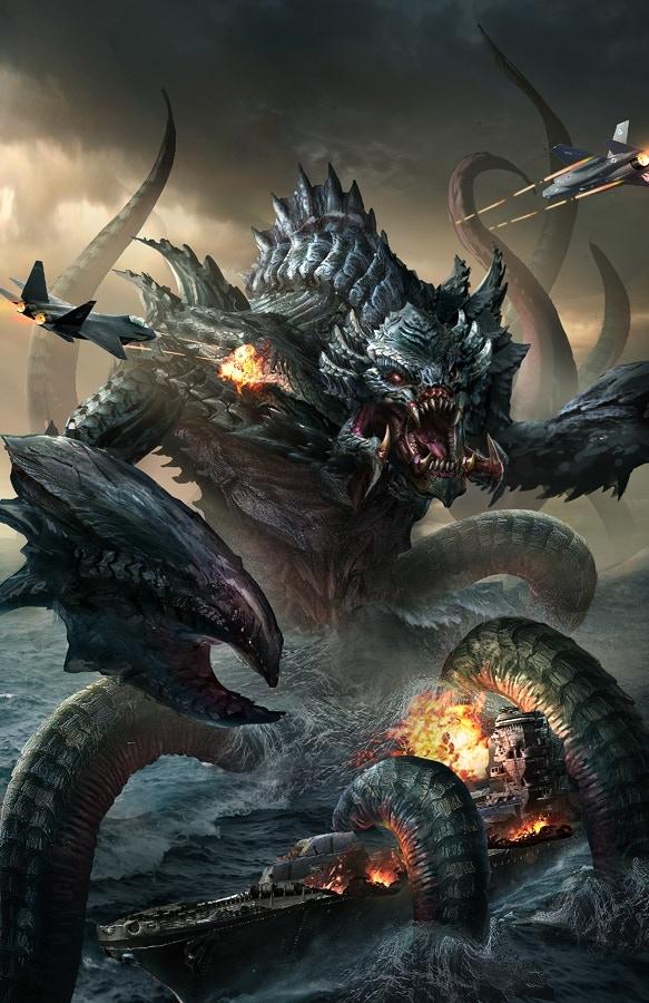 Kaiju Rising: Age of Monsters II cover art (by Tan Ho Sim).