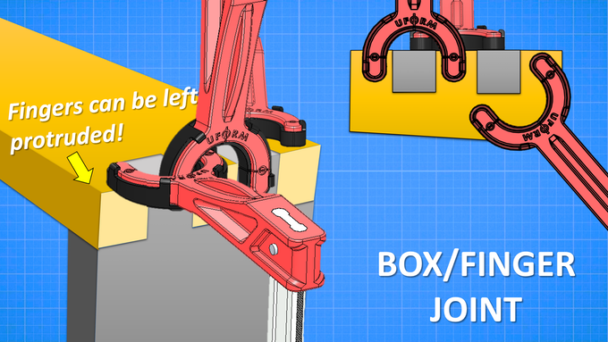 The Andrew Clamp can target the fingers of a box/finger joint with ease!