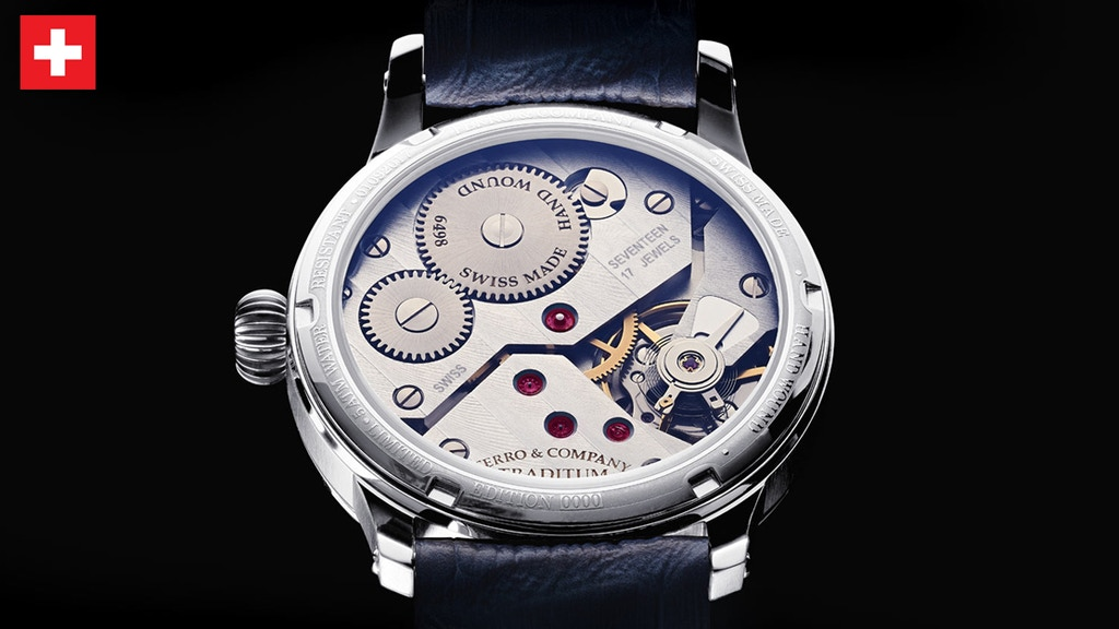 Traditum - Swiss Made Mechanical Hand wound watch by Ferro