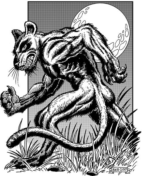 Bradley K. McDevitt's werepanther illustration.