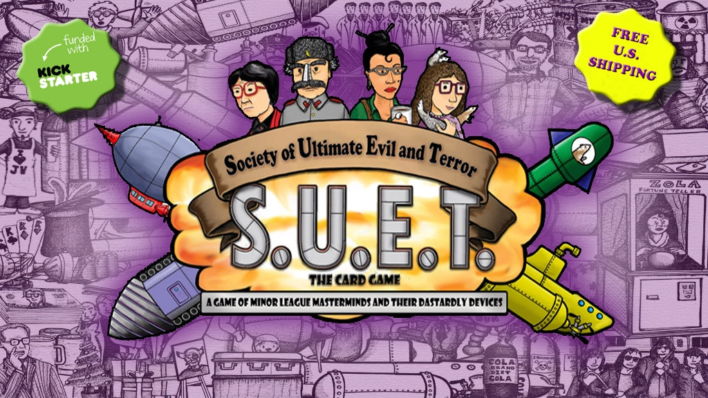 SUET the Card Game - Evil Geniuses & Dastardly Devices project video thumbnail