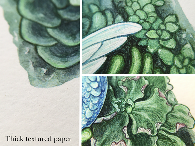 Thick textured paper