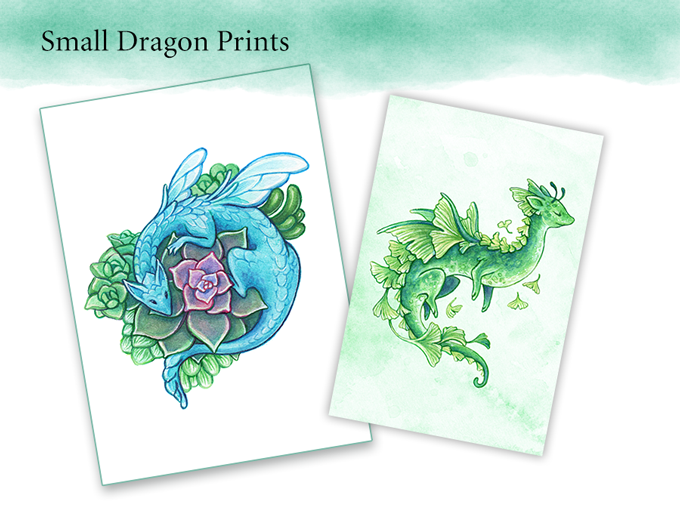 Small dragon prints