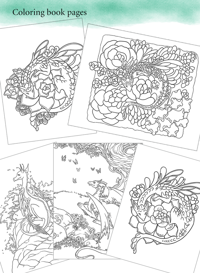 Make 100 Little Succulent Dragon Prints By Meredith