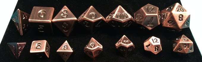 New 10mm metal sets (front), compared to our 16mm metal sets (Back)