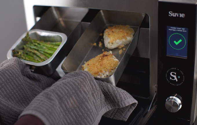 When you get home, you can use the broiler to put a golden crust on your proteins and a roasted finish on the vegetables.
