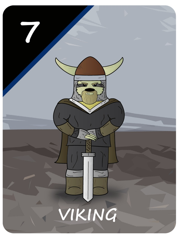 The Viking Sloth that will appear in the Special Edition (chosen by the fans)! YOU VOTED!!!