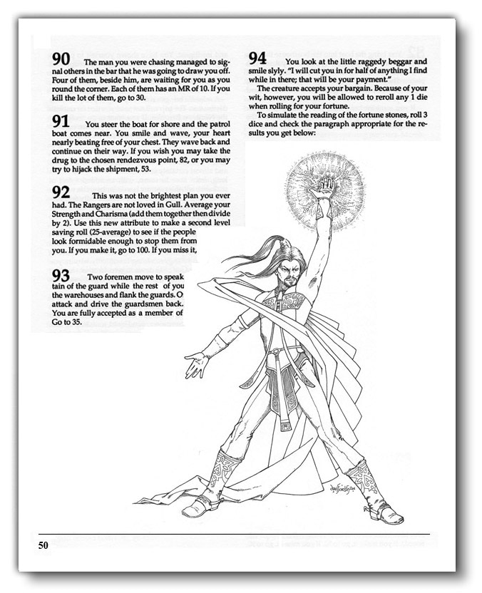 A sample page of B&W edition (Pledge: Paragraph D)