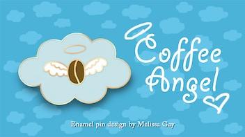 Make 100 Coffee Angel Enamel Pins!