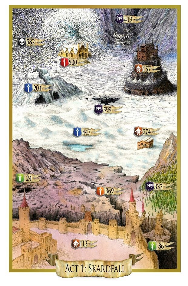 Map system (example from a previous DestinyQuest book)