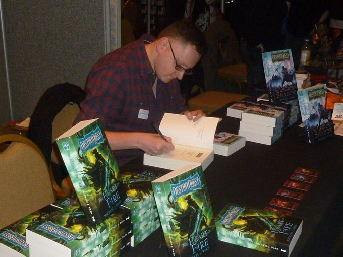 DestinyQuest author and designer Michael Ward (here at Dragonmeet convention)