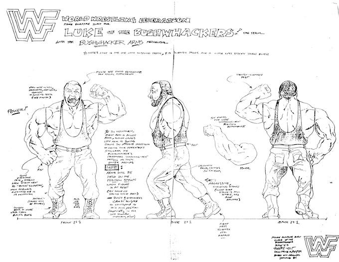 Bushwhacker Luke Design Sketch By Dan Price - Original Artwork Owned By Jimmy