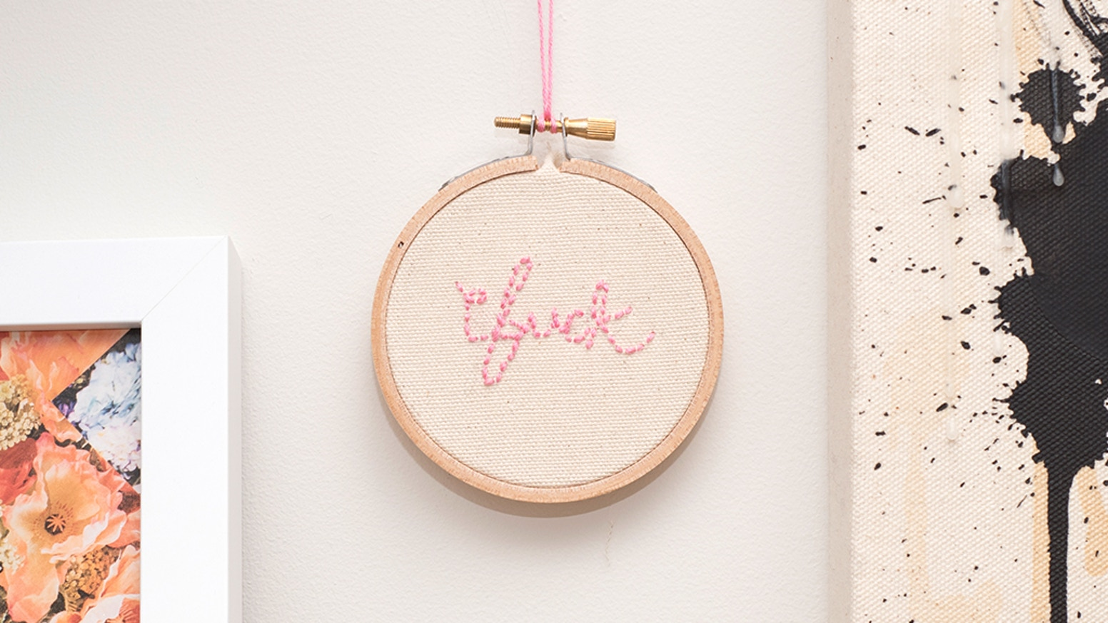 Make 100 Rainbow Fck Embroidery By Emily Hoerdemann 24 Hours To