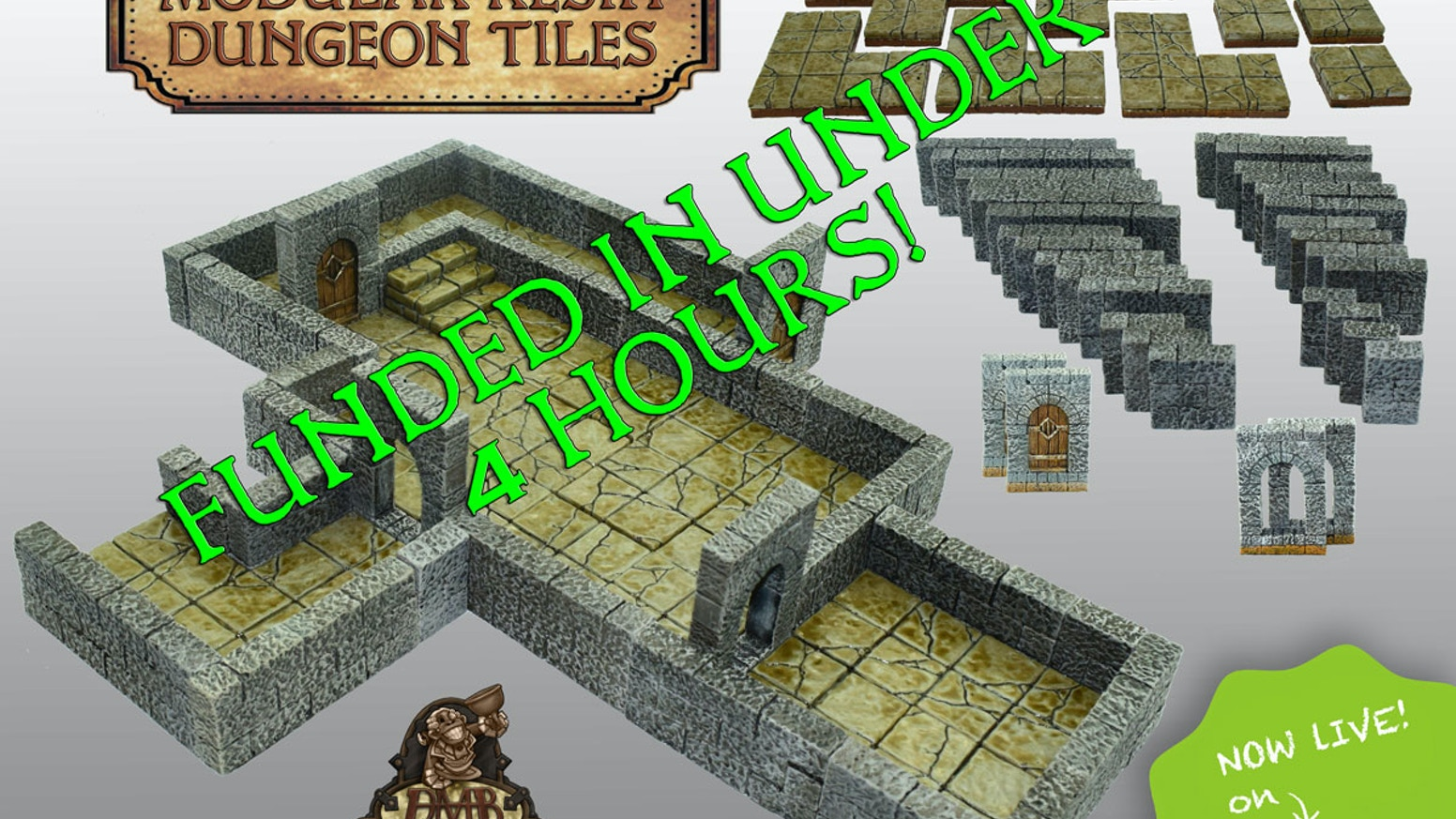 The DMB Game Tile System is a Modular system  that allows you to build anything from single encounters to sprawling tabletop scenes.