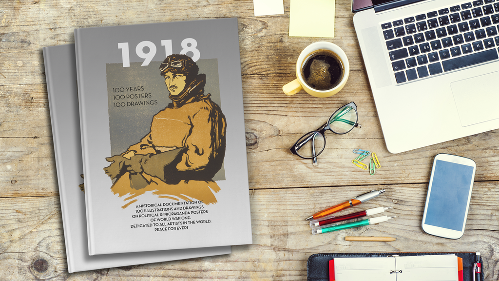 "MAKE 100 // ""1918"" THE BOOK. WITH 100 ILLUSTRATED POSTERS. project video thumbnail"