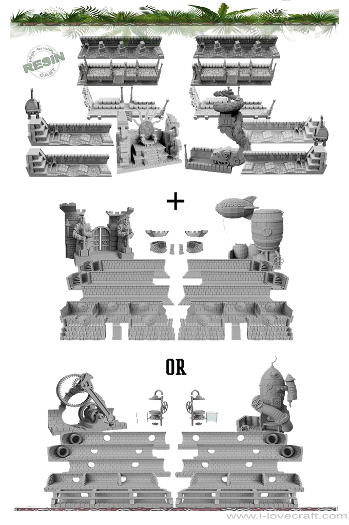 Jungle Fever: Resin cast and 3D printable scenery by Iain