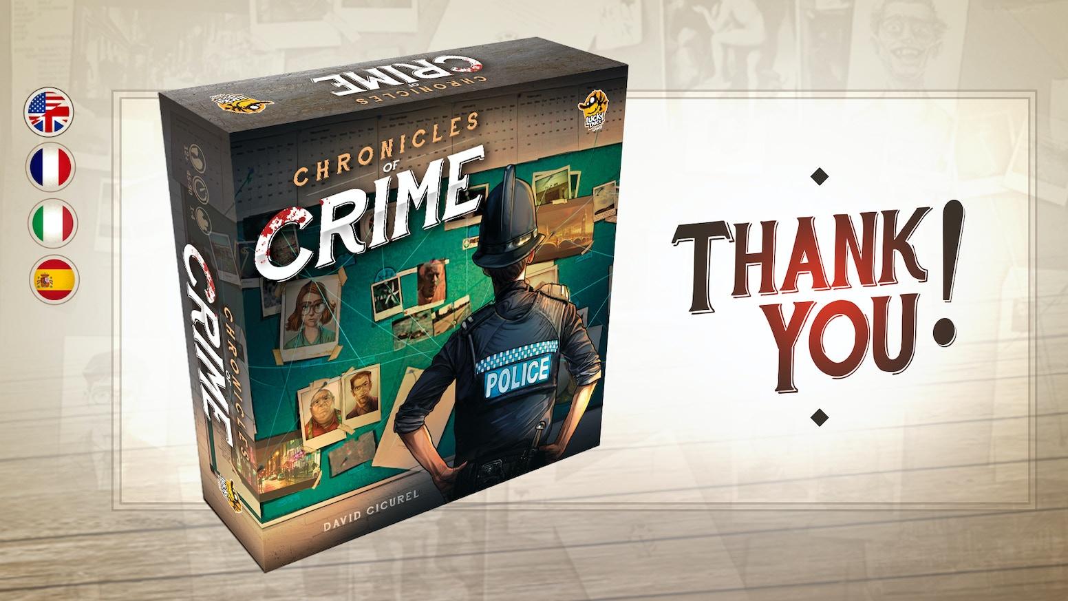 Chronicles Of Crime By Lucky Duck Games Kickstarter
