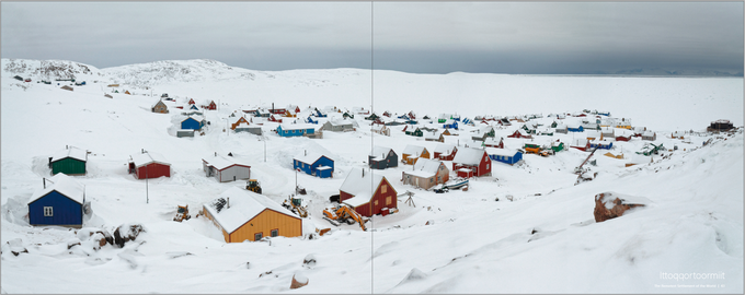One of the remotest settlements on earth is Ittoqqortoormiit located in Northeast Greenland with about 400 inhabitants - 800 km away from the next village, over wild and glaciated mountain ranges.
