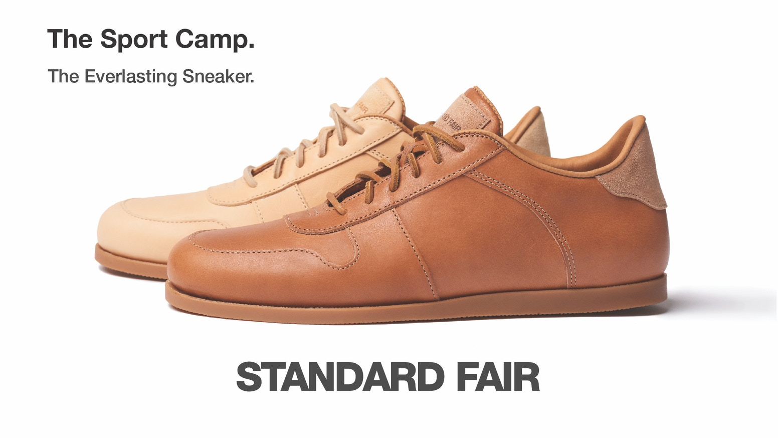 A refined, resoleable, ethically sourced sneaker made in the USA with Italian vegetable-tanned leather.