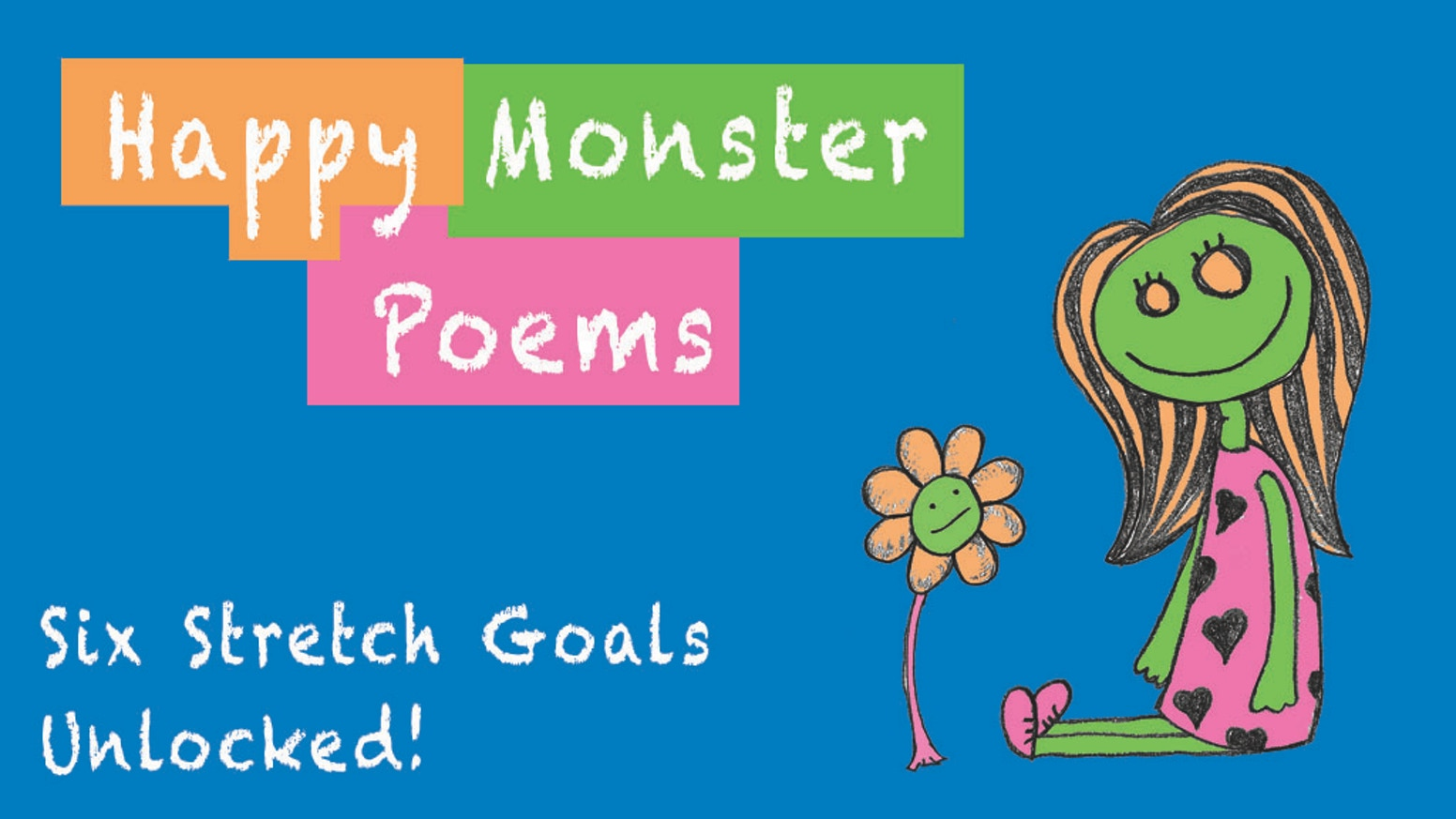 This tiny book of cute, little poems & sketches is just what the monster ordered to put a smile on your face.