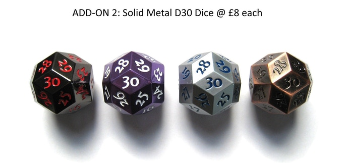 Please click image above to view Dice specifications from previous KS campaign