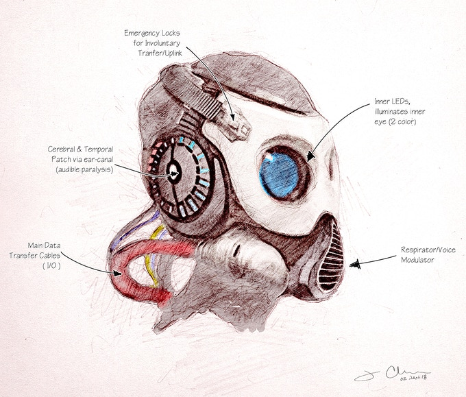 Jessee Clarkson's initial design for the ROAM mask.