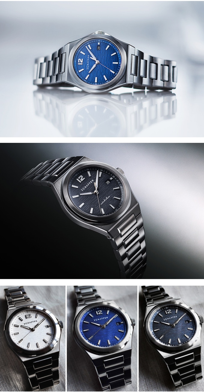 S65 Sport Watch with White, Blue & Grey Dials