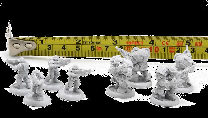 Test castings for 15mm infantry models