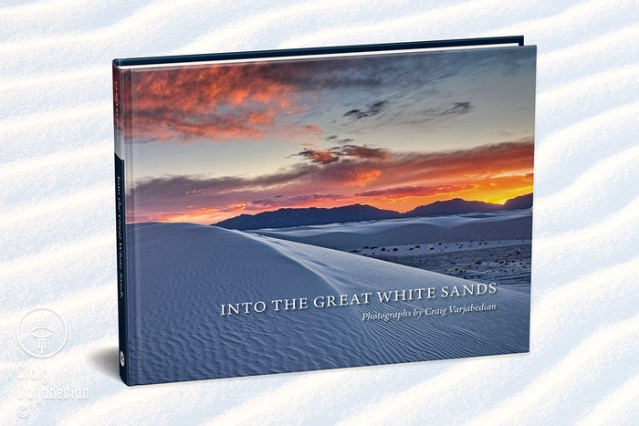 """Into the Great White Sands"" book is now available from Amazon and Barnes & Noble and fine book sellers. Autographed copies are available from the photographer's studio at (505)983-2934."