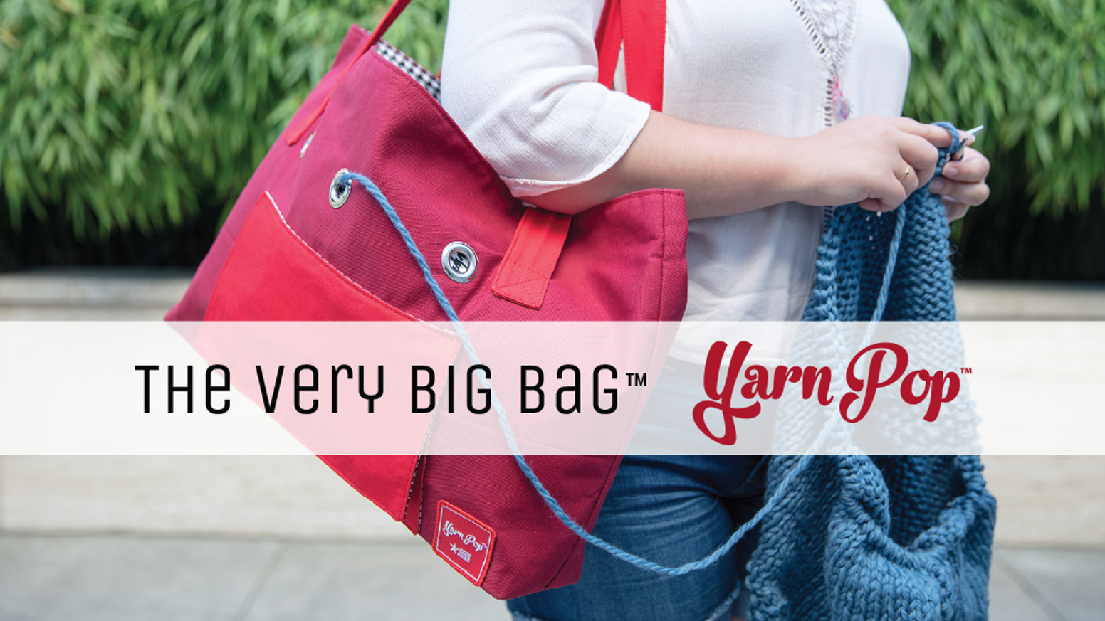 093b87037f The VERY BIG BAG by Yarn Pop lets you bring everything with you so you can