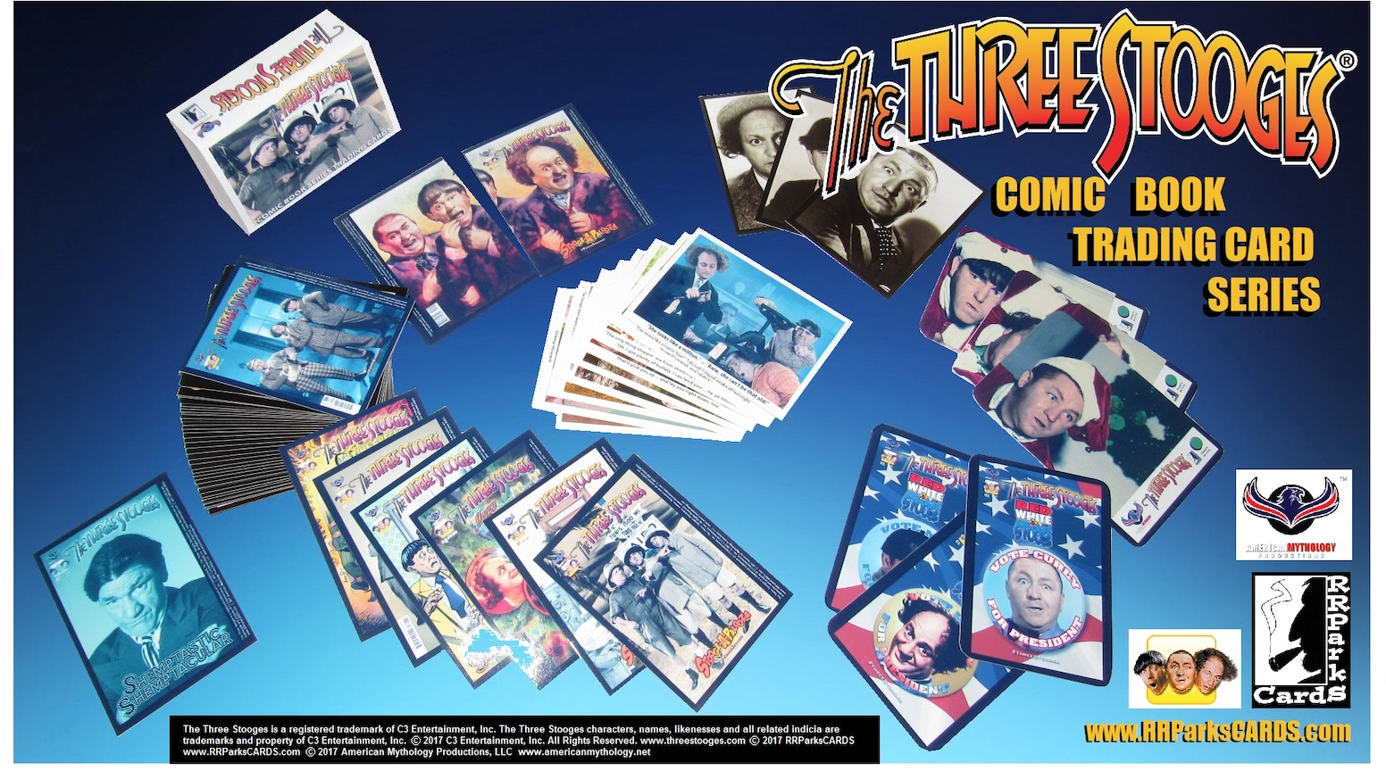 the three stooges comic book trading cards by rrparks. Black Bedroom Furniture Sets. Home Design Ideas