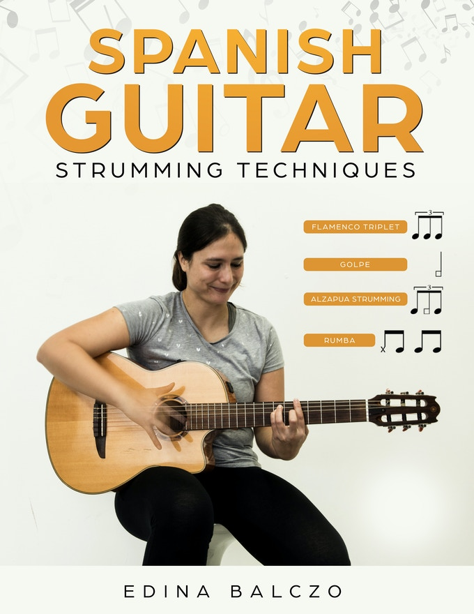 Pretty Book Cover Guitar : Spanish guitar strumming techniques book and video