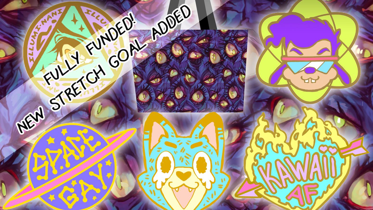 Eye Bags and Enamel Pins by R  Lugo — Kickstarter
