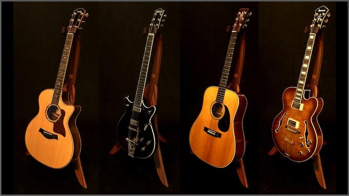 solid ground guitar stands by mark tindle kickstarter. Black Bedroom Furniture Sets. Home Design Ideas