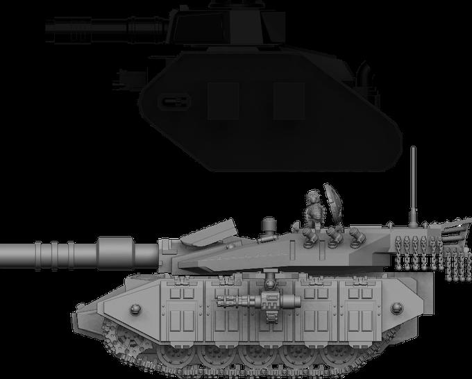 Bulldog MBT size comparison with GW Leman Russ Battle Tank
