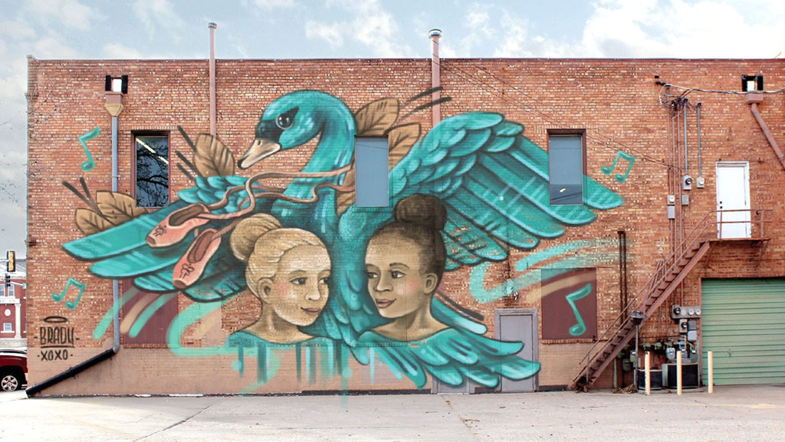 An Inspiring Hand Painted Street Art Mural For The Back Lot Of Poetry In