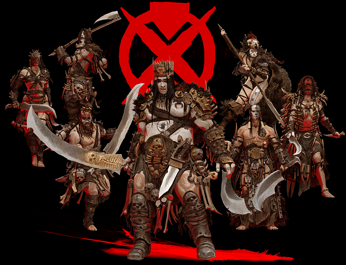 Tribe of Um'Cal - Fearless berserkers, they leave a trail of blood where they go, even if some of it is their own.