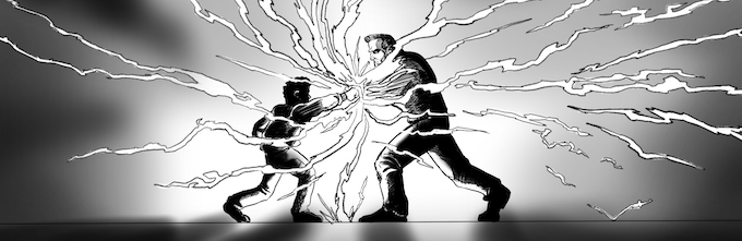 An explosive panel from Chapter 1