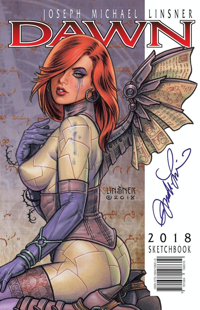 Linsner's 2018 Sketchbook cover REVEALED!