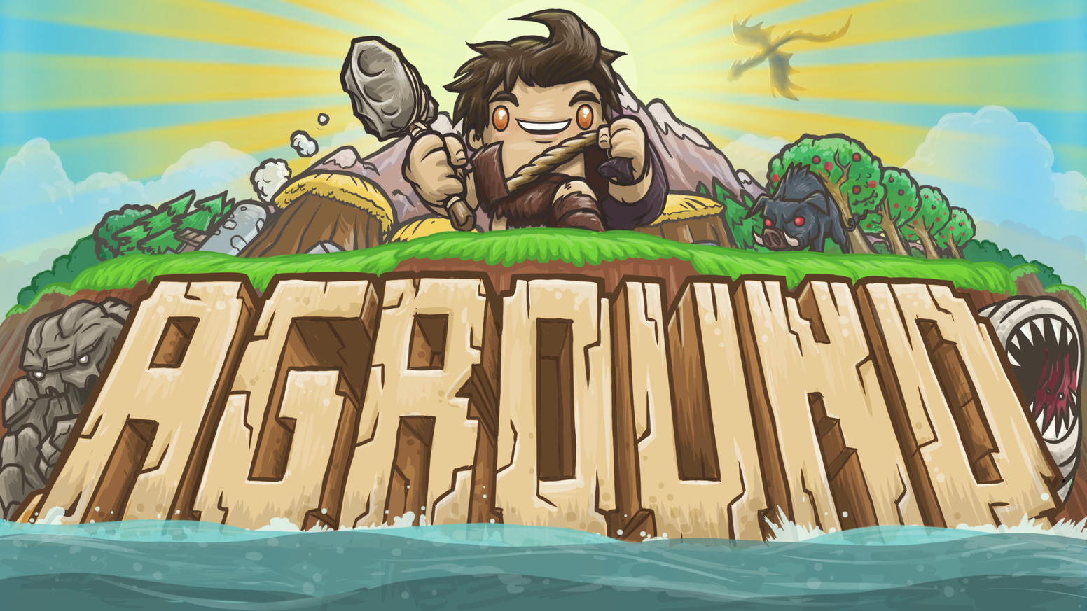 Your ship ran aground. Can you craft, mine and build your way to survival?