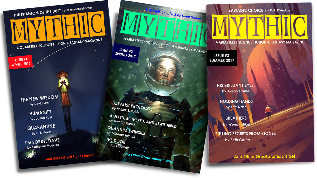 Project image for MYTHIC: A Quarterly Science Fiction & Fantasy Magazine