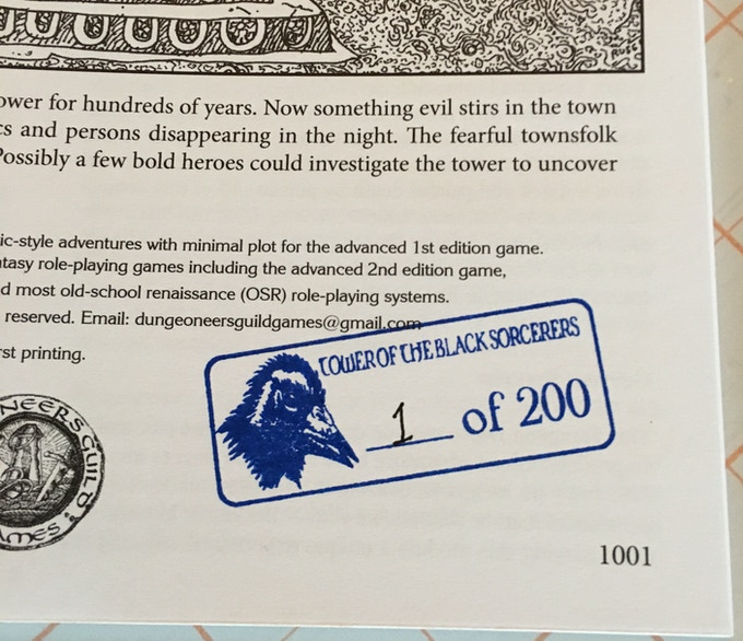 The first 200 print copies will be specially stamped and numbered. That's Firx the Corodaemon featured on the stamp.