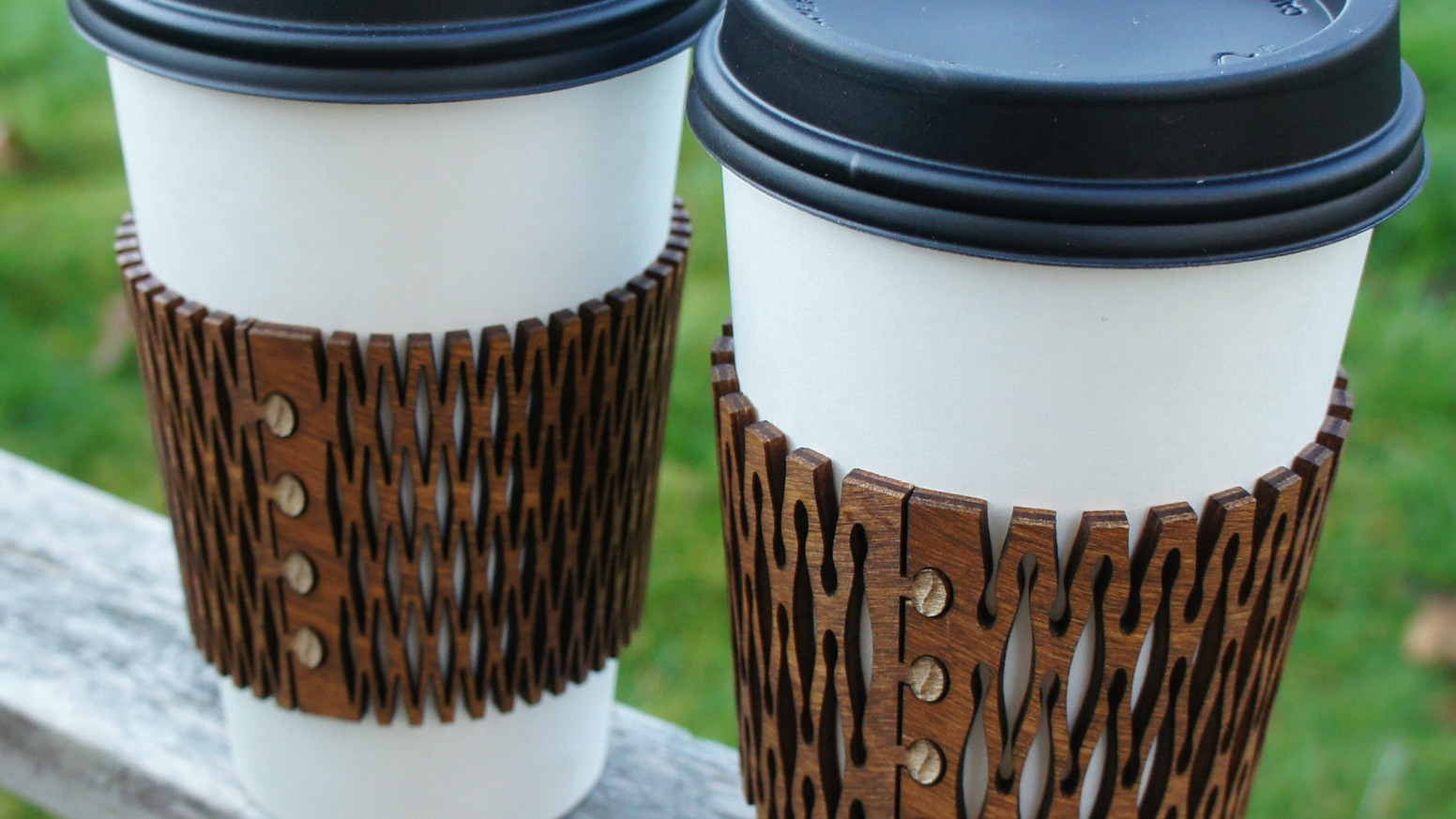 Reusable sleeves for your favorite coffee. Add style and reduce waste on your next trip to the coffee shop.