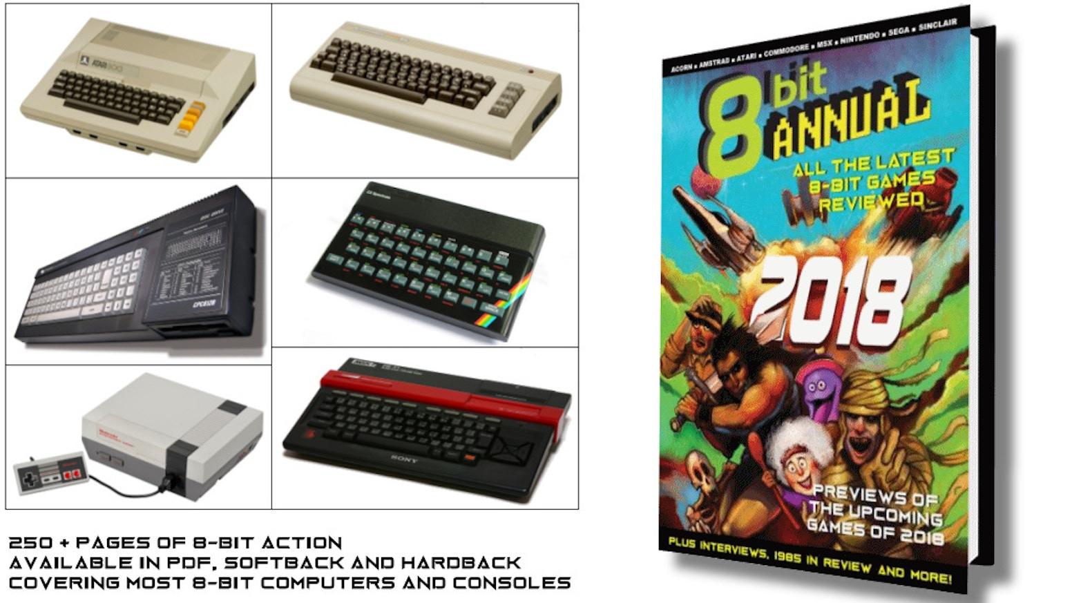 8 Bit Annual reviews the latest games for 8-bit computers and consoles, Amstrad, Atari, Commodore, MSX, Nintendo, Sega, Sinclair etc