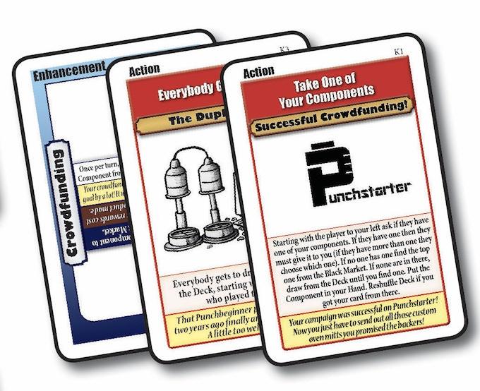 The three Kickstarter exclusive cards