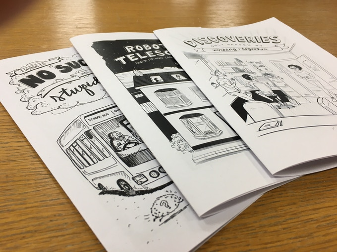 "All 3 comic books, which will combine into a single book - ""Ada's Adventures in Science"" including new artwork."